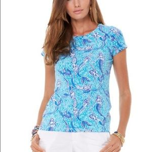 """Lilly Pulitzer Top. """"Nice Tail"""" Size Small"""
